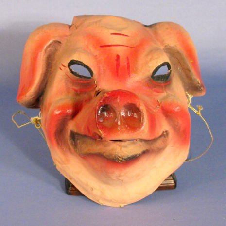 525: Halloween Mask Formed as a Pigs Head