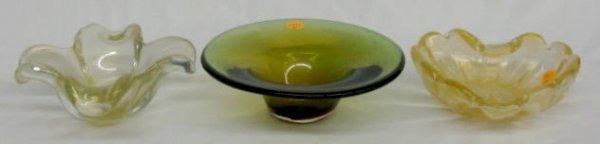1011: 3 Murano Glass Items