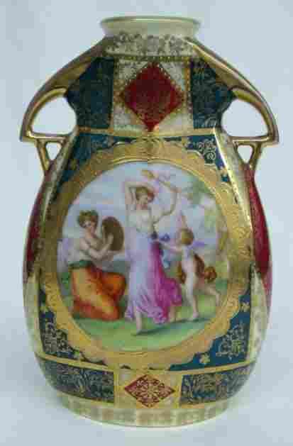 Beehive Austria Vase w/Kaufmann Transfers
