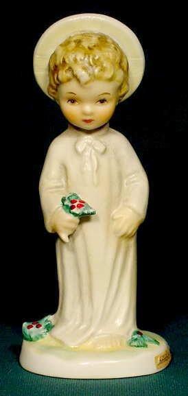 3: Goebel Hummel Christ Child & Holly Figurine NR