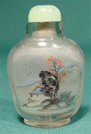 Glass Reverse Painted Snuff Bottle NR