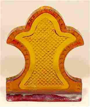 Victorian Amber Pattern Glass Ornament SCARCE NR