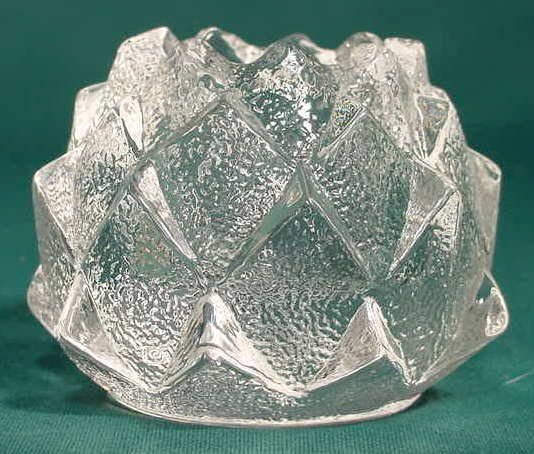 20: Orrefors Crystal Artichoke Candle Holder NR