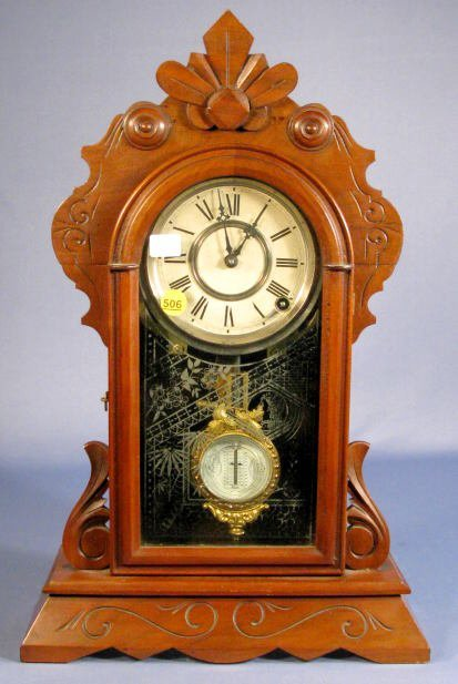 506: F. Kroeber Florida Mantle Clock