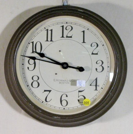 508: E. Howard Electric Gallery Clock