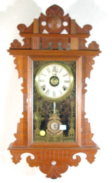 512: E.N. Welch Eclipse Wall Parlor Clock