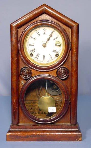524: Ingraham Doric Mantle Clock