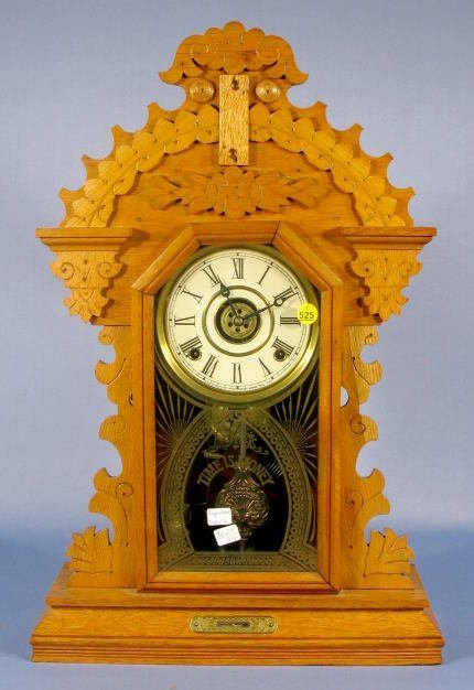 525: E. Ingraham Detroit Mantle Clock
