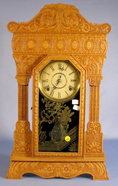 527: Gilbert Steamer No.48, Rare Gilbert Mantle Clock
