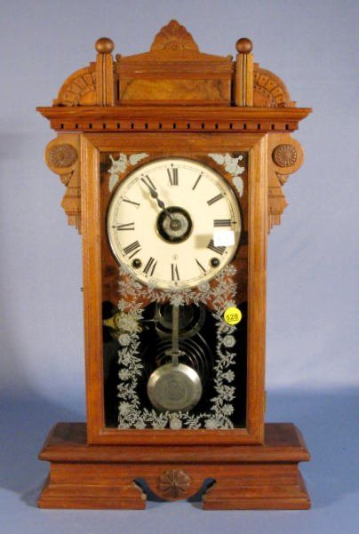 528: S.T. Ogden Clock w/Alarm, Rare City Series Model