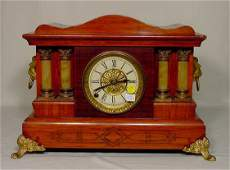 590C: Seth Thomas Adamantine Mantle Clock