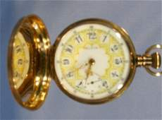 645B Elgin 17J 16S 18K Hunting Case Pocket Watch