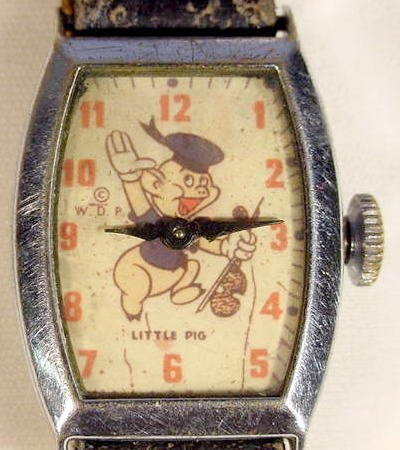 767: 1947 Little Pig Wrist Watch