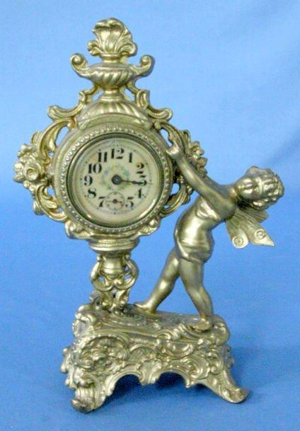 3: Figural Novelty Clock w/Butterfly Girl