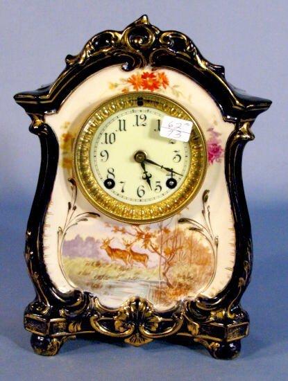 """8: Ansonia """"La Lille"""" Royal Bonn Clock"""