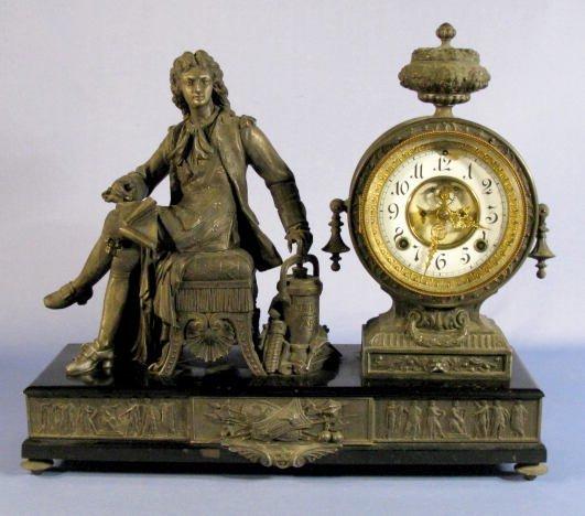 11: Ansonia Denis Papin Statue Clock