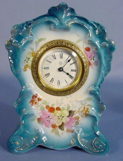 "23: Miniature Ansonia Royal Bonn ""Actor"" Clock"