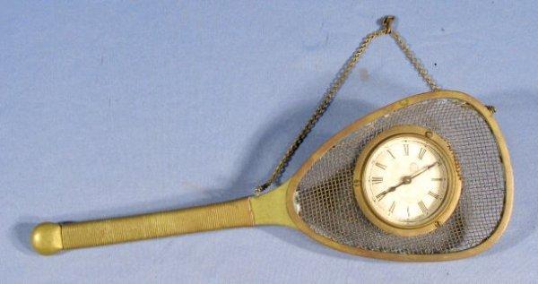 "23C: New Haven ""Racquet"" Novelty Clock"