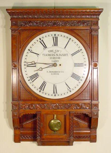 117: Howard #73 Gallery Clock w/Presentation Dial