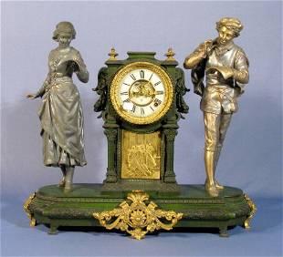 122: Ansonia Vocalists Double Statue Clock