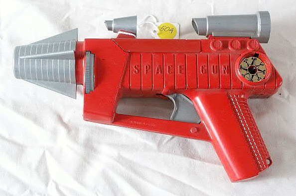 504: Remco Battery Operated Plastic Space Gun NR