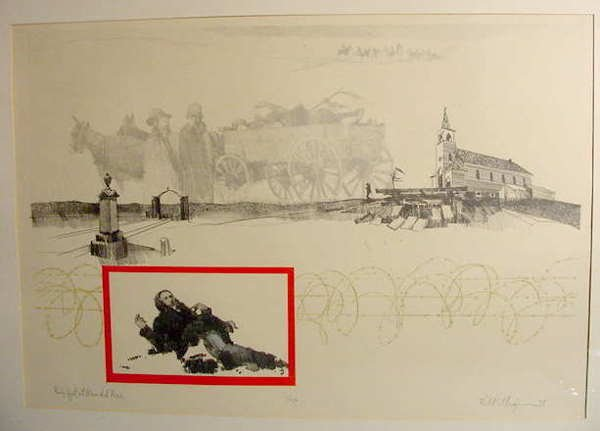 517: Ellingson Wounded Knee Lithograph NR