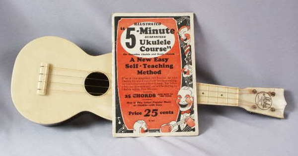 638: Aloha Plastic Ukulele with Instructions 1927-28