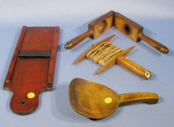 11: Group of 4 Primitive Kitchen Utensils
