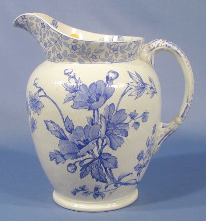 14: Ridgways Chester Pattern China Water Jug