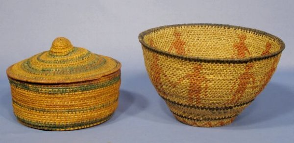 15: 2 American Indian Woven Baskets