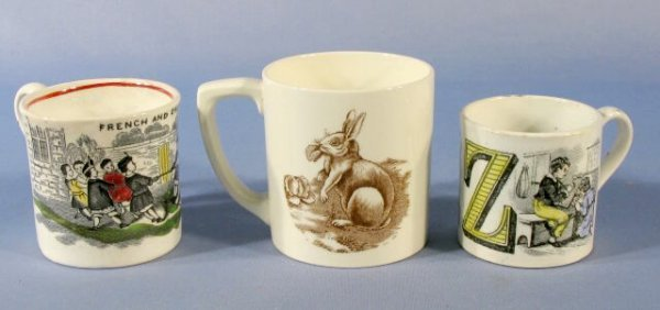 140: Group of 3 Children's Mugs