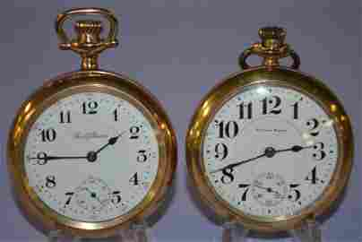 Lot of 2 South Bend 16s Grade 217 Pocket Watches. 1.)