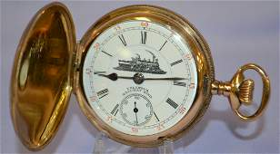 Columbus Railway 16J  King Pocket Watch. 18s OF LS GF