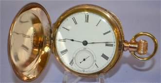 Illinois 11-17J KW/PW Pocket Watch. 18s HC LS gilded,