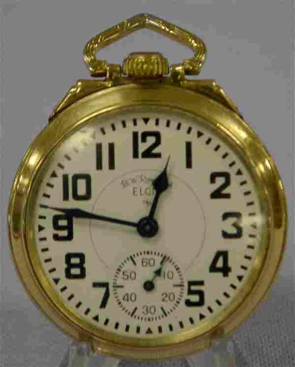 Elgin 571 BW Raymond 21J Pocket Watch. 16s OF LS GF