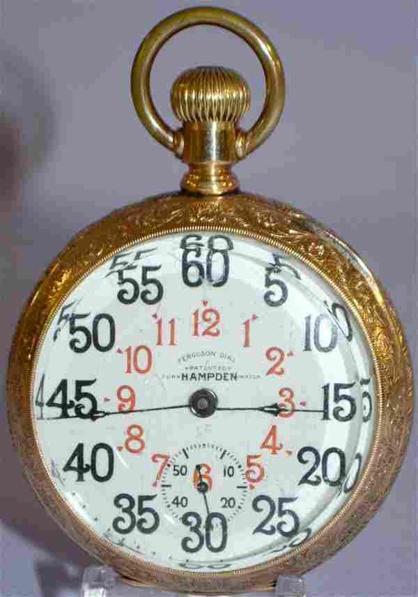 Hampden Special Railway 23J, 18S Pocket Watch: LS OF 2