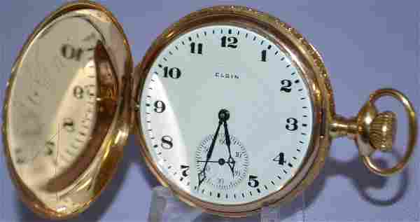 Elgin 14k M6 17J 16S Pocket Watch: PS Adj 6JS NI 3/4