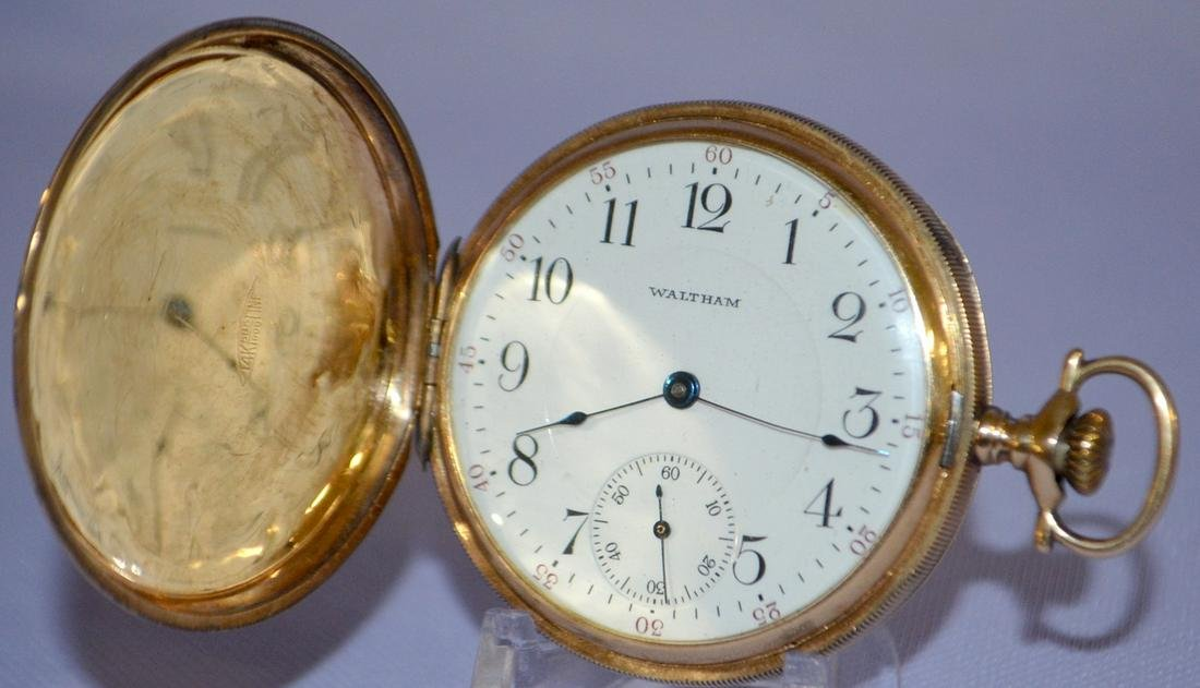 A.W.W.Co. 14k 17J 16S Pocket Watch, SW 3/4 plate DMK No