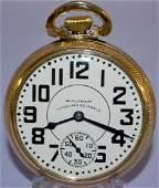 Waltham Late Vanguard 23J 16S OF Pocket Watch LS GF