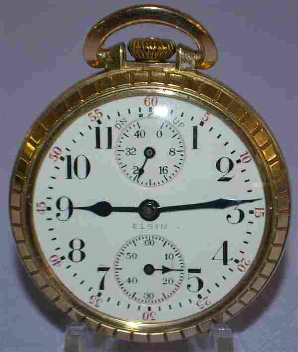Elgin BW Raymond, 23J, 16S, WI, OF Pocket Watch: LS GJS