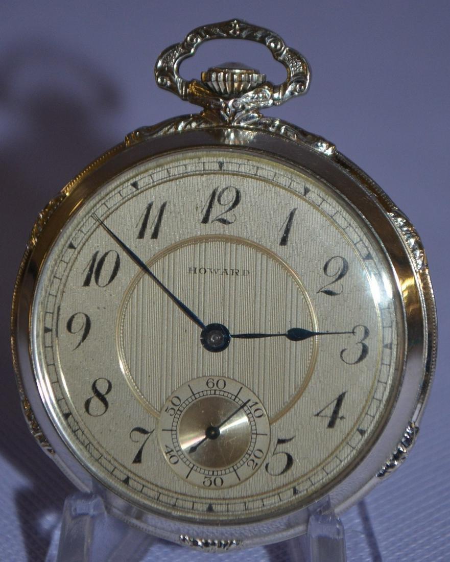 Howard 14k 17J 10S Pocket Watch: OF SW PS, Adj3 P.