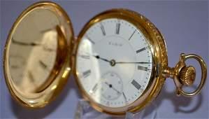 Elgin 14k GMWheeler 17J 16S Pocket Watch PS SW