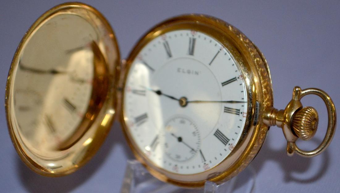 Elgin 14k G.M.Wheeler 17J, 16S Pocket Watch, PS, SW
