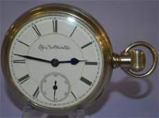 Elgin BW Raymond 15J Display Pocket Watch. 18s OF LS