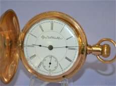 Antique Elgin G.M Wheeler 18s 15J HC Pocket Watch