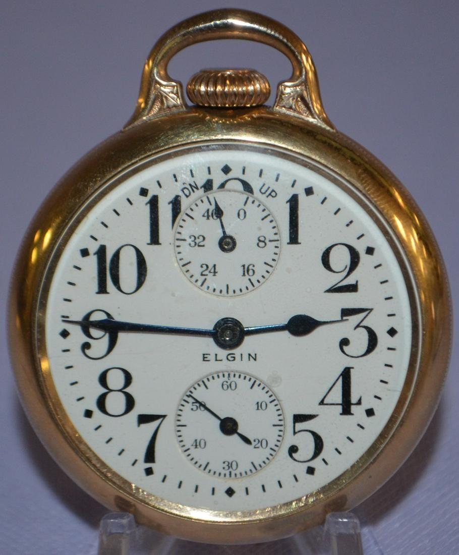 Elgin BW Raymond, 19J, 16S, WI, OF Pocket Watch
