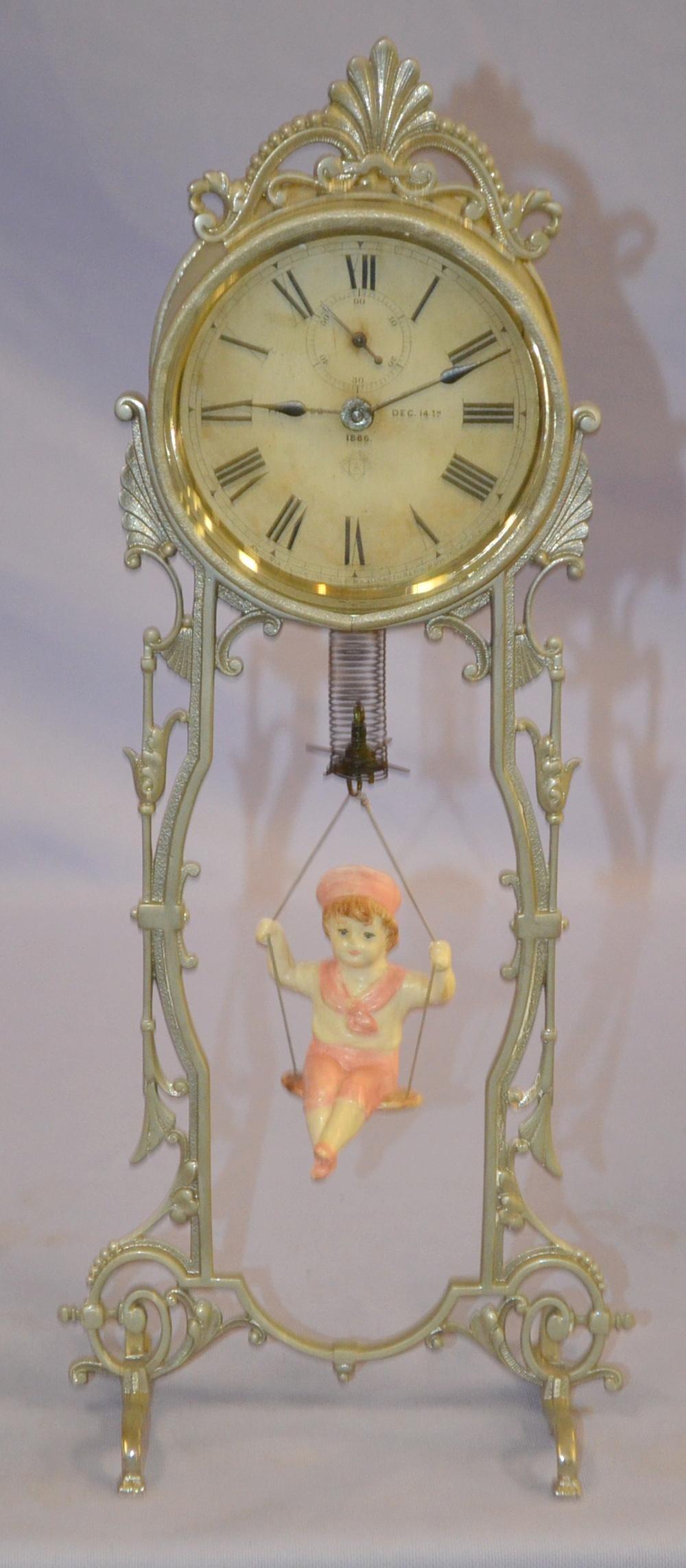 "Antique Ansonia Bobbing Doll ""Jumper #2"" Clock"
