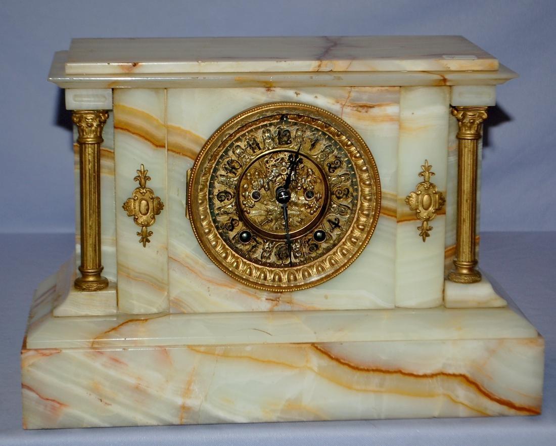 Antique Ansonia Marble Mantel Clock