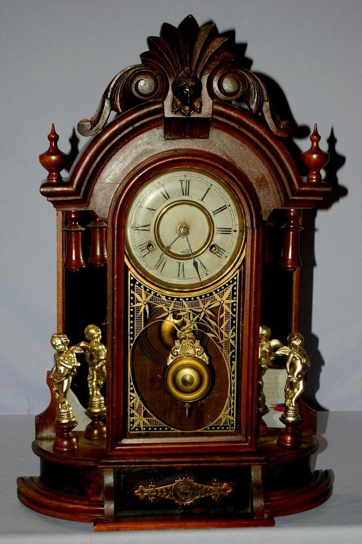 Antique New Haven Occidental Mantel Clock