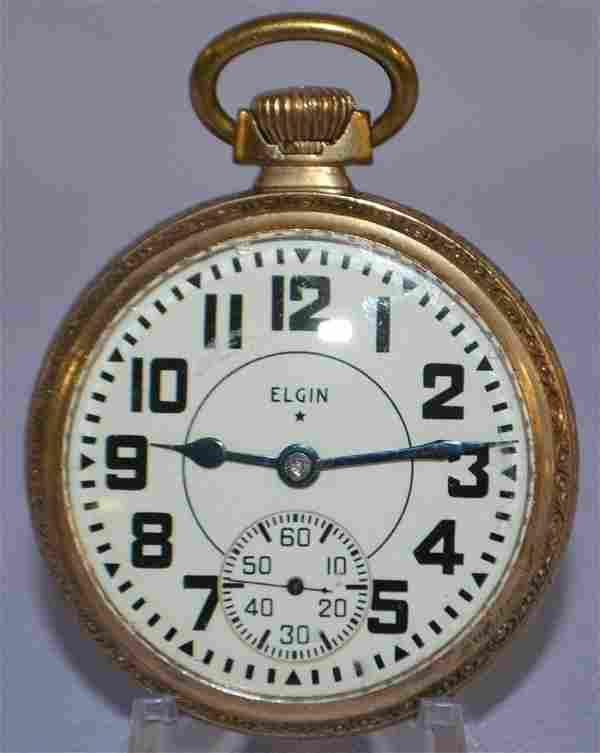 Elgin BW Raymond, 21J, 16S, OF Pocket Watch